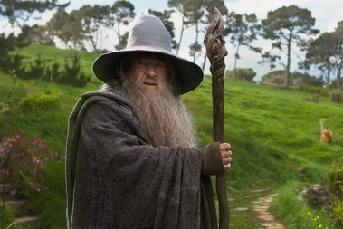 Sir Ian McKellen in The Hobbit: An Unexpected Journey