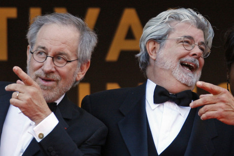 George Lucas and Steven Spielberg (Reuters)