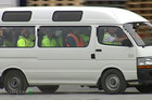 Prisoners are transported to work