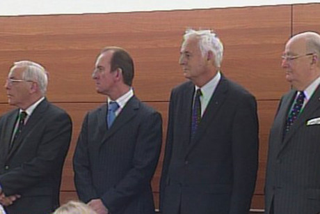 Lombard's Sir Douglas Graham, Michael Reeves, William Jeffries and Lawrie Bryantin court