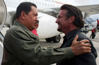 Hugo Chavez and Sean Penn (Reuters)