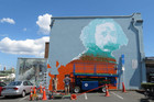 The mural is on the side of a building in the Auckland suburb of Kingsland (Photo: James Fyfe/3 News)