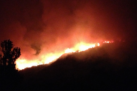 Whanganui Councillor Jack Bullock took this photo of the fire