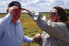 Gina Rinehart with Australia's Minister for Resources, Energy and Tourism, Martin Ferguson (Reuters)