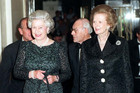 Queen Elizabeth II with Baroness Thatcher in 1995 (AAP file)