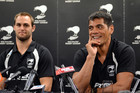 Kiwis Captain Simon Mannering and Stephen Kearney (Photosport)