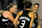 Black Sticks players celebrate the goal that put them ahead of Argentina (Photosport)