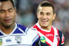 Sonny Bill Williams, right, bagged a double for the Roosters (AAP)