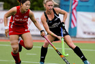 South Korea's Ki Ju Park, left, and Black Sticks Anita Punt (Photosport)