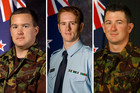 Flight Lieutenant Hayden Madsen, Flying Officer Daniel Gregory and Corporal Ben Carson were killed in the helicopter crash  (file)