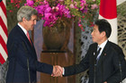 US Secretary of State John Kerry (L) and Japan's Foreign Minister Fumio Kishida (Reuters)