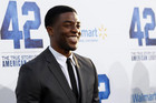 Chadwick Boseman poses at the premiere (Reuters)