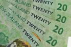 The kiwi dollar fell to 83.91 US cents (file)