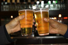 A new government survey shows fewer people are drinking alcohol (file)