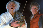 A scene from time travel classic Back to the Future