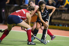 Black Sticks Julia King attempts to beat USA's Meghan Dawson (Photosport)
