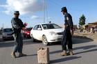 Insurgents killed six police officers at a checkpoint in Afghanistan yesterday (AAP)