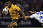 Wallabies' Kurtley Beale, left (Reuters file)