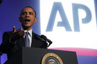 Hackers used the Associated Press' Twitter account to say Obama had been injured in a White House attack (Reuters file)