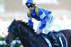 It's A Dundeel was at his most awesome in the Australian Derby, winning by six lengths without being asked to extend by James McDonald (AAP)