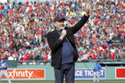 "Singer Neil Diamond sings ""Sweet Caroline"" during a baseball game between the Boston Red Sox and the Kansas City Royals at Fenway Park in Boston (Photo: Reuters)"
