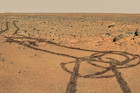 Spirit rover's naughty 'art' (NASA)