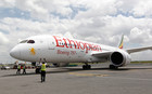 An Ethiopian Airlines' 787 Dreamliner arrives at the Jomo Kenyatta international airport in Kenyas capital Nairobi (Reuters)
