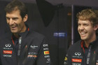 Mark Webber (L) and Sebastian Vettel (L)