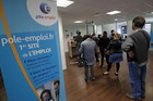 Job seekers wait at an employment agency in Marseille, France (Reuters file)