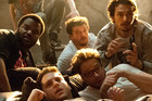 Craig Robinson, Danny McBride, James Franco, Seth Rogen and Jonah Hill in This Is The End