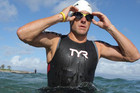 The disgraced cyclist is signed up to swim three events this weekend at the Masters South Central Zone Swimming Championships at the University of Texas (Reuters)