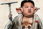 Kim Jong-un in a doctored photo uploaded to Flickr