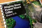 The Mighty River Power share offer prospectus (Photo: Kim Choe/3News)