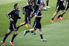 Bayern Munich trained ahead of their Champions League semi-final against Barcelona at the Nou Camp, Spain (Reuters)