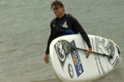 World number four David Ferrer swapped his tennis racquet for a paddle as he took a paddleboarding lesson in Portugal
