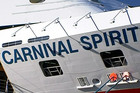 The Carnival Spirit was returning to Sydney from a trip around the Pacific when a couple went overboard 