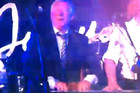 Sir Alex Ferguson rocks out