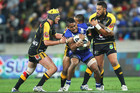 Ben Barba of the Bulldogs in action on Saturday  (Photosport)
