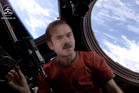 Commander Chris Hadfield singing in the International Space Station