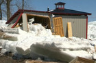 The ice tsunami was up to 3m high and had some residents fleeing for their lives