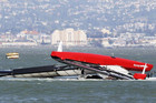 Artemis' yacht is towed to shore after capsizing in San Francisco Bay (Reuters file)