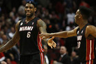 LeBron James scored 27 points as the Miami Heat nearly matched a club record for points conceded in a playoff game (Reuters)