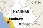 A map showing where the boat carrying about 100 Rohingya Muslims capsized (Reuters)