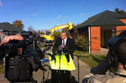 Canterbury Earthquake Recovery Minister Gerry Brownlee makes the announcement (Photo: Hamish Clark)