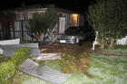 The car which crashed through a fence in the middle of the night (Photo: Elvin Sharma)