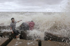 Waves crash into the shore of the Bay of Bengal in Bangladesh (Reuters)