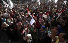 Protesters chant anti-Mursi and anti-Muslim Brotherhood slogans during a demonstration in Tahrir square (Reuters)
