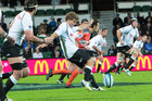 The Sharks in action against the Western Force in Perth  (AAP)