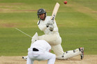 Ross Taylor sweeps Graeme Swann as Joe Root ducks for cover (Photosport)