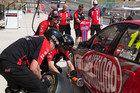 Fabian Coulthard of Brad Jones Racing practice pitstops during the Texas 400 (AAP)